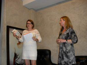 Ewa berättade om bakgrunden till förlaget, om boken och om vårt samarbete.